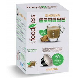 50 CAPSULE FOODNESS GINSENG COMPATIBILI DOLCE GUSTO SENZA GLUTINE
