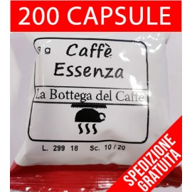 "200 CAPSULE CAFFE' ""ESSENZA"" COMPATIBILI LAVAZZA ESPRESSO POINT"